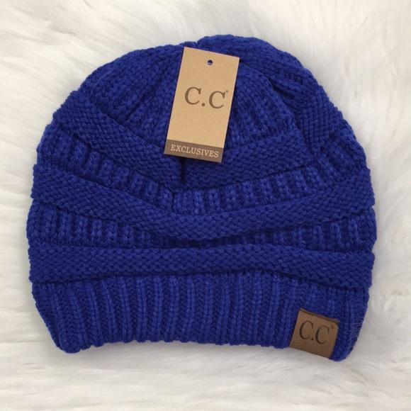 645748893 Royal Blue Classic C.C Beanie Boutique